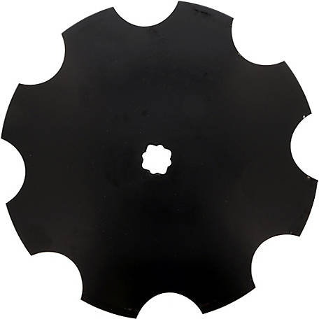 Disc Blade 20 x 7G (4.0mm) Notched Edge, Axle Size 1 in. Square x 1-1/8 in. Square