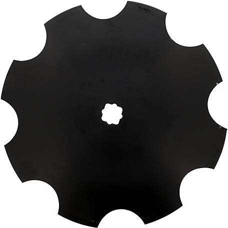 Disc Blade 22 x 7G (4.0mm) Notched Edge, Axle Size 1-1/8 in. x 1-1/4 in. Square