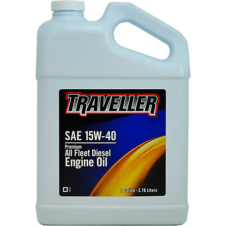 Traveller Premium All Fleet SAE 15W-40 Diesel Engine Oil, 1 gal., 4 Per Case