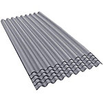 Ondura-9 36 in. W x 79 in. L Corrugated Asphalt Roofing Sheets, Gray, Pack of 5