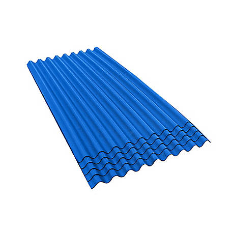 Ondura-9 36 in. W x 79 in. L Corrugated Asphalt Roofing Sheets, Blue, Pack of 5