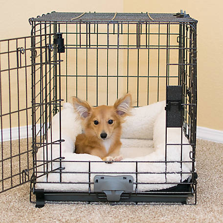 K&H Pet Products Deluxe Bolster Crate Pad Natural, Extra Small