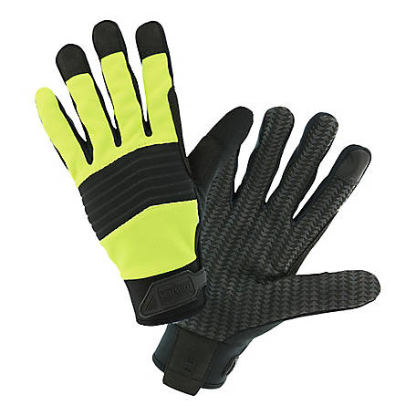C.E. Schmidt CES Men's Large Hi-Visibility Utility Grip Gloves