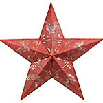 Red Shed Star Ceiling Tile, Red