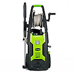 GreenWorks GPW2002 13A 2000 PSI 1.2 GPM Electric Pressure Washer with Hose Reel