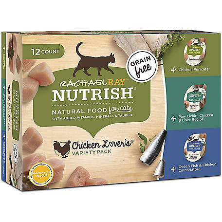 Rachael Ray Nutrish Chicken Lovers Natural Grain-Free Wet Cat Food, Variety Pack