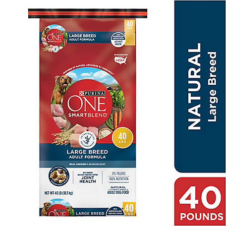 Purina ONE Natural Large Breed Dry Dog Food, SmartBlend Large Breed Adult Formula, 40 lb. Bag