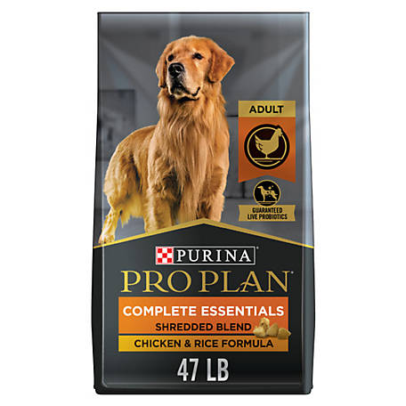 Purina Pro Plan with Probiotics Dry Dog Food, SAVOR Shredded Blend Chicken & Rice Formula, 47 lb. Bag