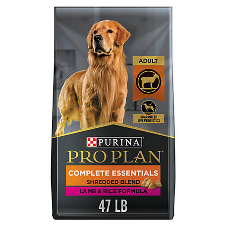Purina Pro Plan with Probiotics Dry Dog Food, SAVOR Shredded Blend Lamb & Rice Formula - 47 lb. Bag