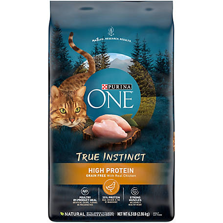 Purina ONE True Instinct Natural Grain-Free with Real Chicken Dry Cat Food, 6.3 lb. Bag