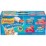 Purina Friskies Wet Cat Food Fish-A-Licious Variety Pack, 32 ct.,  5.5 oz. Cans