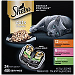 Sheba Perfect Portions Grain-Free Wet Cat Food Cuts in Gravy 24 ct. Variety Pack, 2.6 oz. Twin-Pack Trays