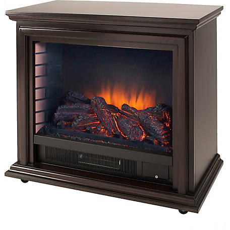 Pleasant Hearth Sheridan Mobile Infrared Fireplace, Espresso