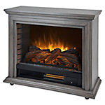 Pleasant Hearth Sheridan Mobile Infrared Fireplace, Dark Weathered Grey