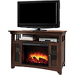 Muskoka Wyatt 48 in. Media Fireplace, Burnished Oak