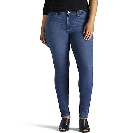 Lee Women's Plus Slimming Rebound Skinny Leg Jean
