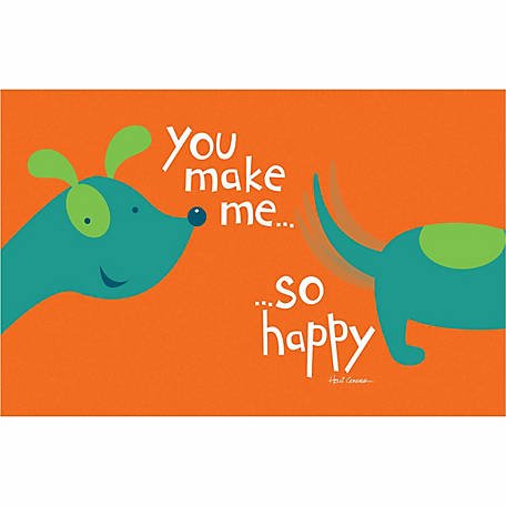Pawsome Pet Placemats You Make Me so Happy Pet Placemat for Dogs
