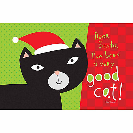 Pawsome Pet Placemats Dear Santa I've Been a Good Cat Placemat