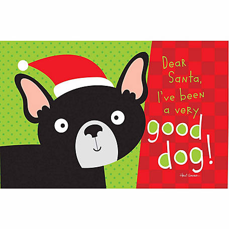 Pawsome Pet Placemats Dear Santa I've Been a Good Dog Placemat