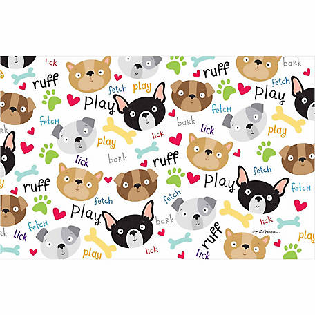 Pawsome Pet Placemats Doggy Placemat, Dog Faces