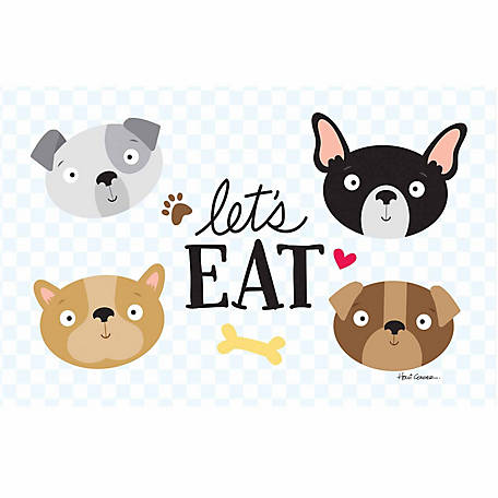 Pawsome Pet Placemats Let's Eat Dog Placemat