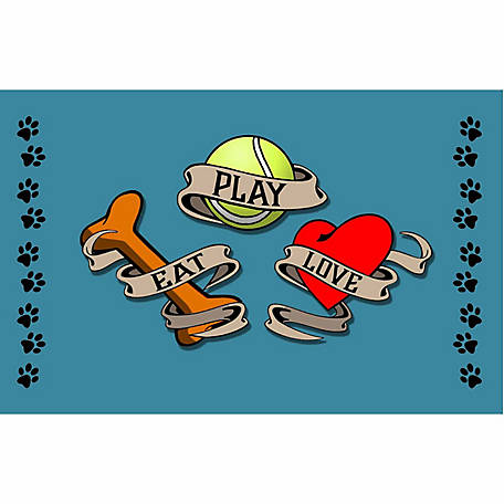 Pawsome Pet Placemats Eat, Play, Love Pet Placemat