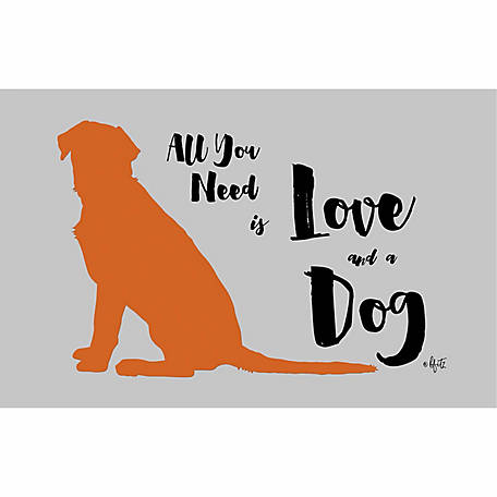 Pawsome Pet Placemats All You Need is Love and a Dog Placemat