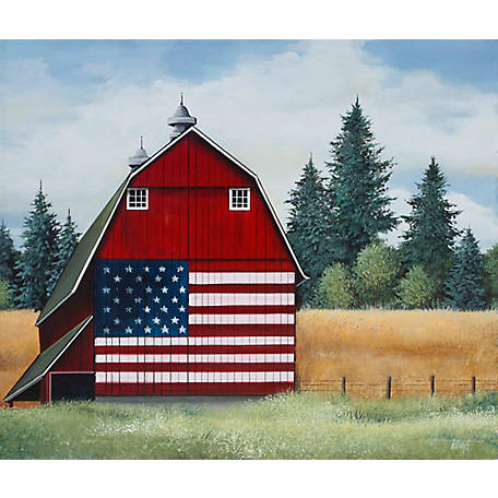 Birchwood Trading Lake Towel Flag Barn, 98334