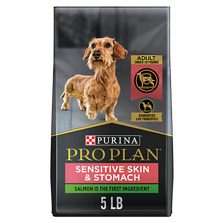 Purina Pro Plan FOCUS Sensitive Skin & Stomach Small Breed Adult Dry Dog Food, 5 lb.