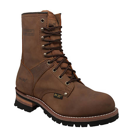 AdTec Men's 9 in. Brown Logger Boot