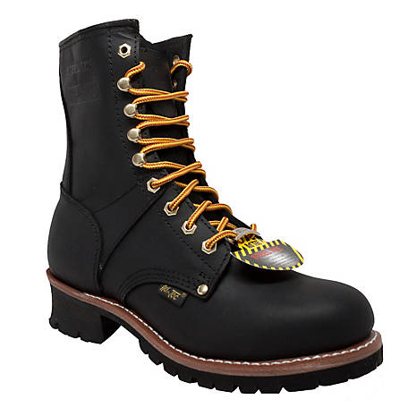 AdTec Men's 9 in. Black Steel Toe Logger Boot