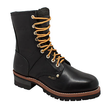 AdTec Men's 9 in. Black Logger Boot