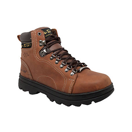 AdTec Men's 6 in. Brown Steel Toe Hiker