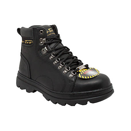 AdTec Men's 6 in. Black Steel Toe Hiker
