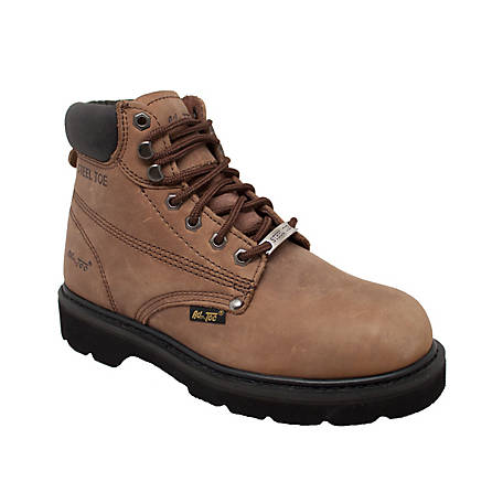 AdTec Men's 6 in. Brown Steel Toe Work Boot