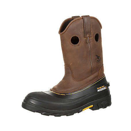 2dfbb64def8 Georgia Boot Men's 11 in. Dark Brown Muddog 2 Wellington at Tractor Supply  Co.