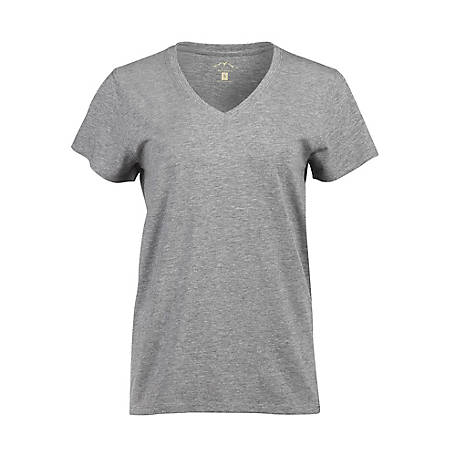 Blue Mountain Women's Basic Short Sleeve V-Neck Tee