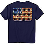 NRA Men's National Rifle Association Shotgun Shell Flag Graphic T-Shirt