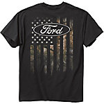 Ford Men's FMC Camo Accent Flag Graphic T-Shirt