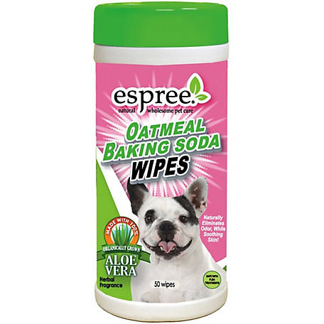 Espree Oatmeal Baking Soda Wipes, Pack of 50