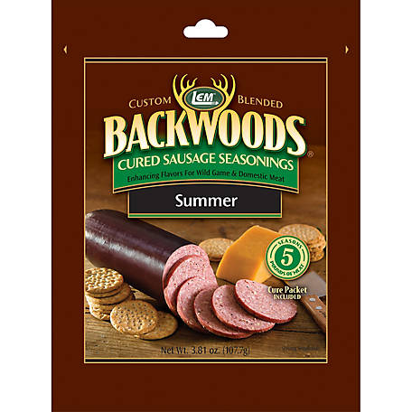 LEM Backwoods Summer Sausage Seasoning, Makes 5 lb.