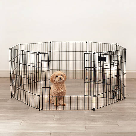 Pet Sentinell 24 in. H x 16 ft. L Small Pet Pen, 530017