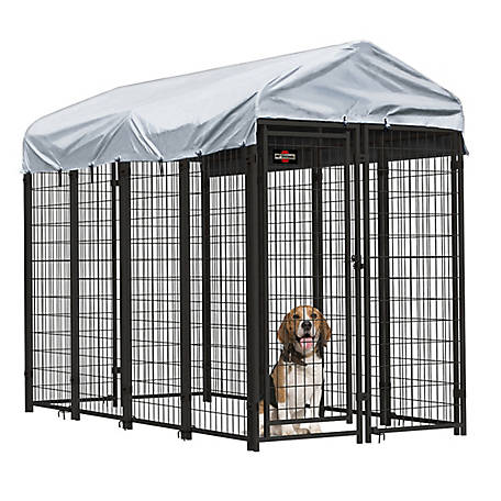 Pet Sentinel 6 x 4 x 8 ft. Welded Mesh Kennel Kit with Anchors, 541983