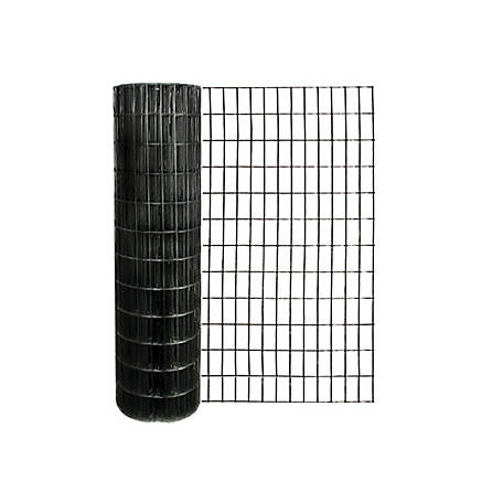 Origin Point 48 in. x 50 ft. 14 ga. Black Vinyl Welded Wire with 2 in. x 4 in. Mesh, 704850RP