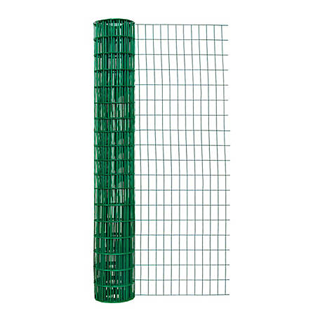 Origin Point 72 in. x 50 ft. 14 ga. Green Vinyl Fence with 2 in x 4 in. Mesh, 717250RP
