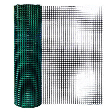 Origin Point 48 in. x 100 ft. Green Vinyl Garden Fence with 1 in. x 1 in. Mesh, 784800RP