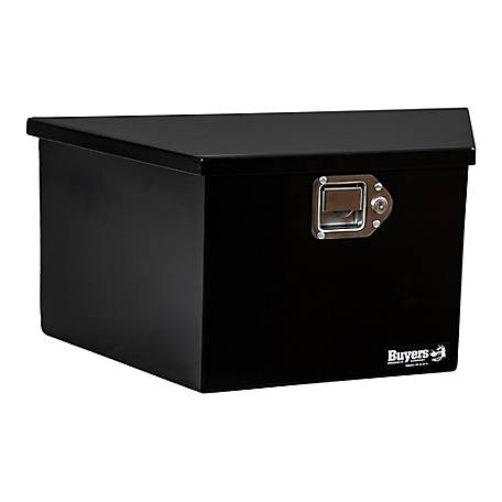 Buyers Products 22.5 in. Black Steel Trailer Tongue Truck Box