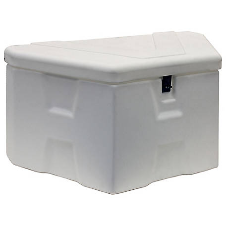 Buyers Products 18 in. x 19 in. x 36 in. White Poly Trailer Tongue Truck Box