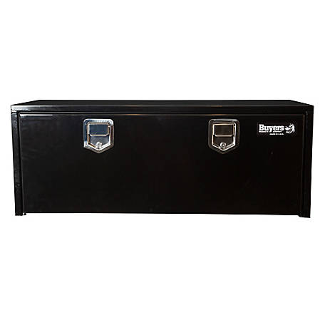 Buyers Products 18 in. x 18 in. x 60 in. Black Steel Underbody Truck Box with Paddle Latch