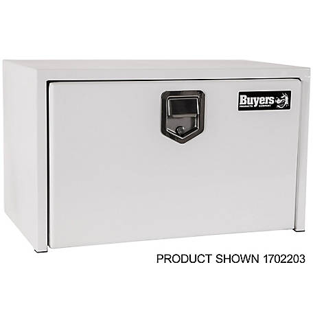 Buyers Products 18 in. x 18 in. x 24 in. White Steel Underbody Truck Box with Paddle Latch